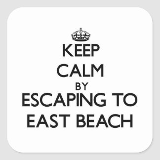 Keep calm by escaping to East Beach Massachusetts Square Stickers
