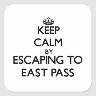 Keep calm by escaping to East Pass Florida Square Sticker