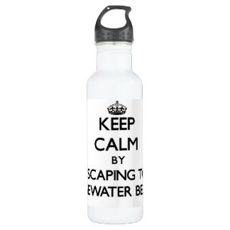 Keep calm by escaping to Edgewater Beach Florida 710 Ml Water Bottle