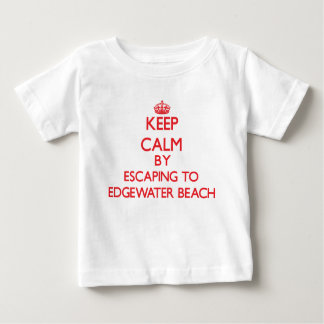 Keep calm by escaping to Edgewater Beach Florida T-shirt