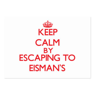 Keep calm by escaping to Eisman'S Massachusetts Pack Of Chubby Business Cards