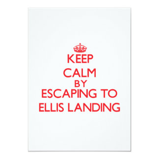 Keep calm by escaping to Ellis Landing Massachuset Personalized Invitations