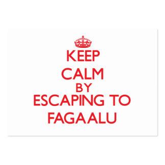 Keep calm by escaping to Fagaalu Samoa Business Card Templates