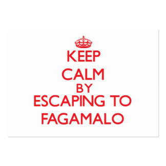 Keep calm by escaping to Fagamalo Samoa Business Cards