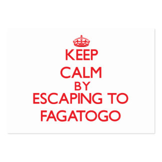 Keep calm by escaping to Fagatogo Samoa Business Cards