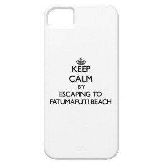 Keep calm by escaping to Fatumafuti Beach Samoa iPhone 5 Cover