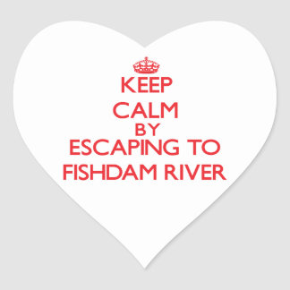 Keep calm by escaping to Fishdam River Michigan Sticker