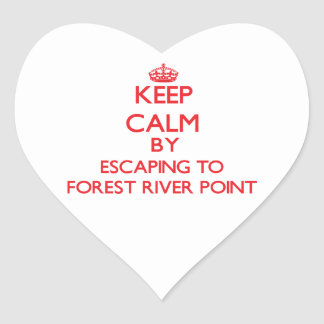 Keep calm by escaping to Forest River Point Massac Sticker