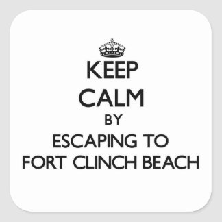 Keep calm by escaping to Fort Clinch Beach Florida Stickers