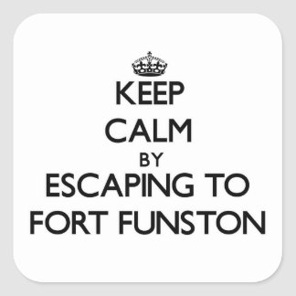 Keep calm by escaping to Fort Funston California Sticker