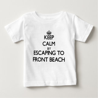 Keep calm by escaping to Front Beach Massachusetts Tees