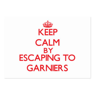 Keep calm by escaping to Garniers Florida Business Card Templates
