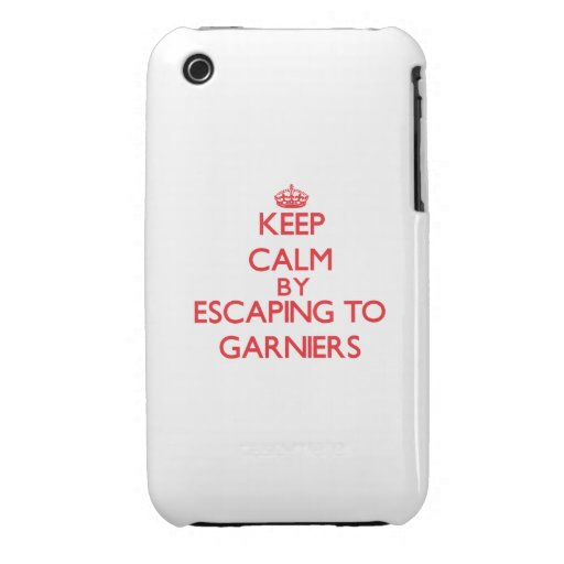 Keep calm by escaping to Garniers Florida iPhone 3 Cases