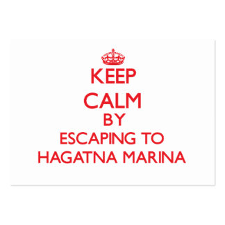Keep calm by escaping to Hagatna Marina Guam Business Cards