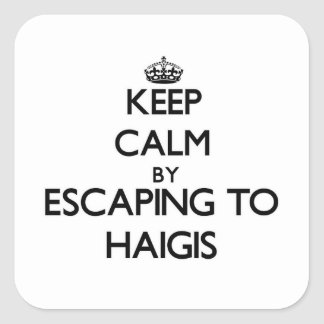 Keep calm by escaping to Haigis Massachusetts Square Sticker
