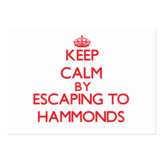 Keep calm by escaping to Hammonds California Business Card