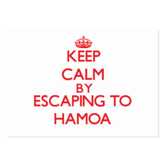 Keep calm by escaping to Hamoa Hawaii Business Card Template