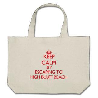 Keep calm by escaping to High Bluff Beach Californ Bag
