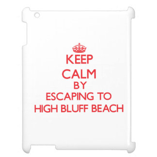 Keep calm by escaping to High Bluff Beach Californ Cover For The iPad 2 3 4