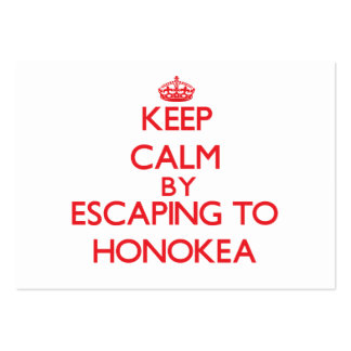 Keep calm by escaping to Honokea Hawaii Business Card Template