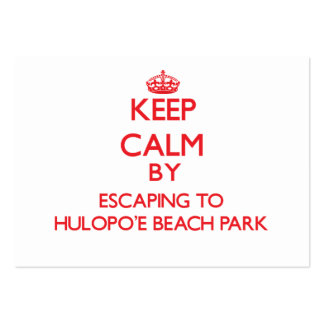 Keep calm by escaping to Hulopo'E Beach Park Hawai Business Card Templates