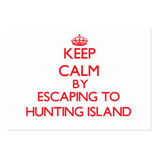 Keep calm by escaping to Hunting Island South Caro Pack Of Chubby Business Cards