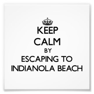 Keep calm by escaping to Indianola Beach Texas Photo Print