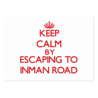 Keep calm by escaping to Inman Road Massachusetts Pack Of Chubby Business Cards