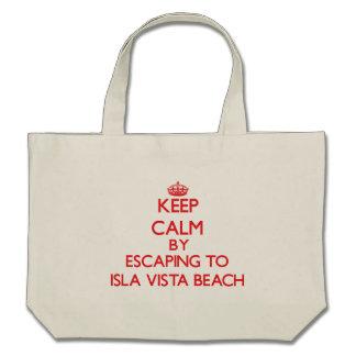 Keep calm by escaping to Isla Vista Beach Californ Tote Bag