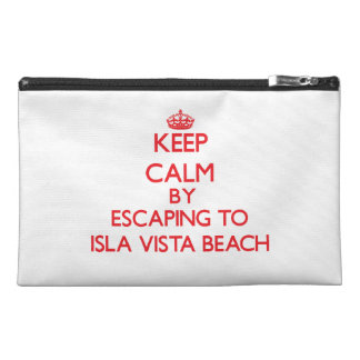 Keep calm by escaping to Isla Vista Beach Californ Travel Accessory Bag