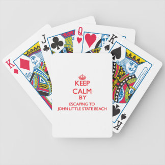 Keep calm by escaping to John Little State Beach C Poker Cards