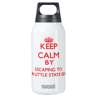 Keep calm by escaping to John Little State Beach C 10 Oz Insulated SIGG Thermos Water Bottle