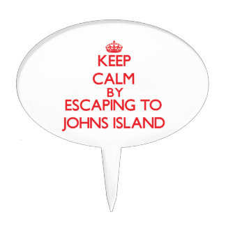 Keep calm by escaping to Johns Island Washington Cake Toppers