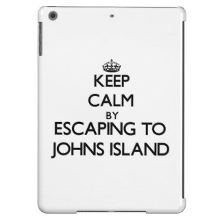 Keep calm by escaping to Johns Island Washington Cover For iPad Air