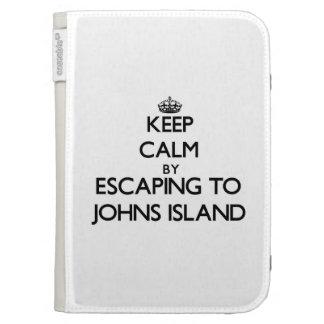 Keep calm by escaping to Johns Island Washington Kindle Covers