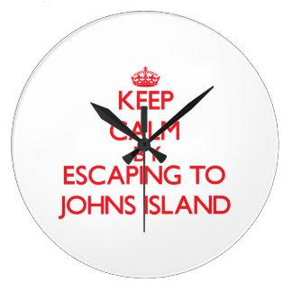 Keep calm by escaping to Johns Island Washington Wallclock