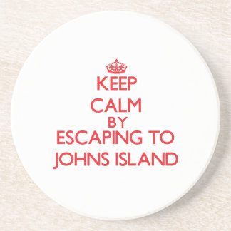 Keep calm by escaping to Johns Island Washington Drink Coaster