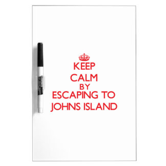 Keep calm by escaping to Johns Island Washington Dry-Erase Board