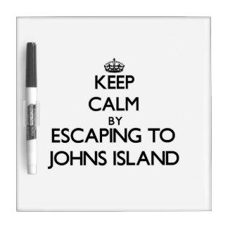 Keep calm by escaping to Johns Island Washington Dry-Erase Board