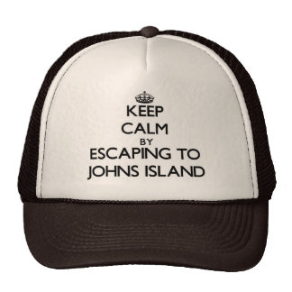 Keep calm by escaping to Johns Island Washington Trucker Hats
