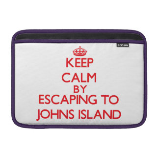 Keep calm by escaping to Johns Island Washington MacBook Air Sleeves