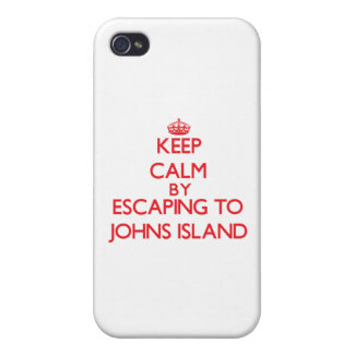 Keep calm by escaping to Johns Island Washington iPhone 4/4S Cover