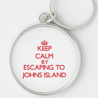 Keep calm by escaping to Johns Island Washington Key Chains