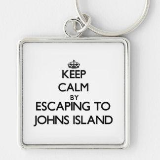 Keep calm by escaping to Johns Island Washington Key Chain