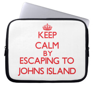 Keep calm by escaping to Johns Island Washington Laptop Sleeves