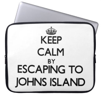 Keep calm by escaping to Johns Island Washington Laptop Sleeve