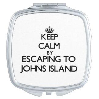 Keep calm by escaping to Johns Island Washington Makeup Mirror