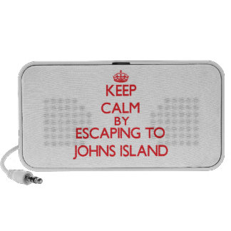 Keep calm by escaping to Johns Island Washington Notebook Speaker
