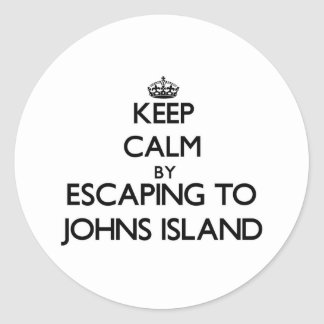 Keep calm by escaping to Johns Island Washington Round Sticker