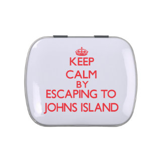 Keep calm by escaping to Johns Island Washington Jelly Belly Candy Tin